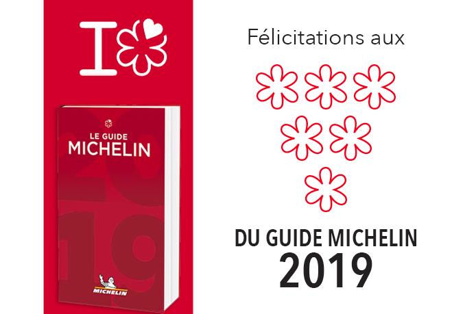 Félicitations Aux étoilés Du Guide Michelin 2019