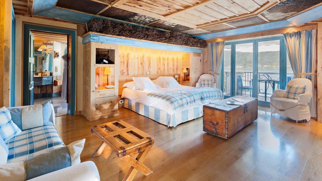 Les chambres de la Maison Bleue à Veyrier du Lac