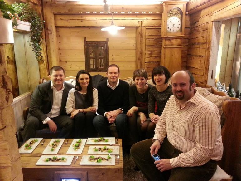 Photo de groupe chez Yoann Conte à Veyrier-du-Lac