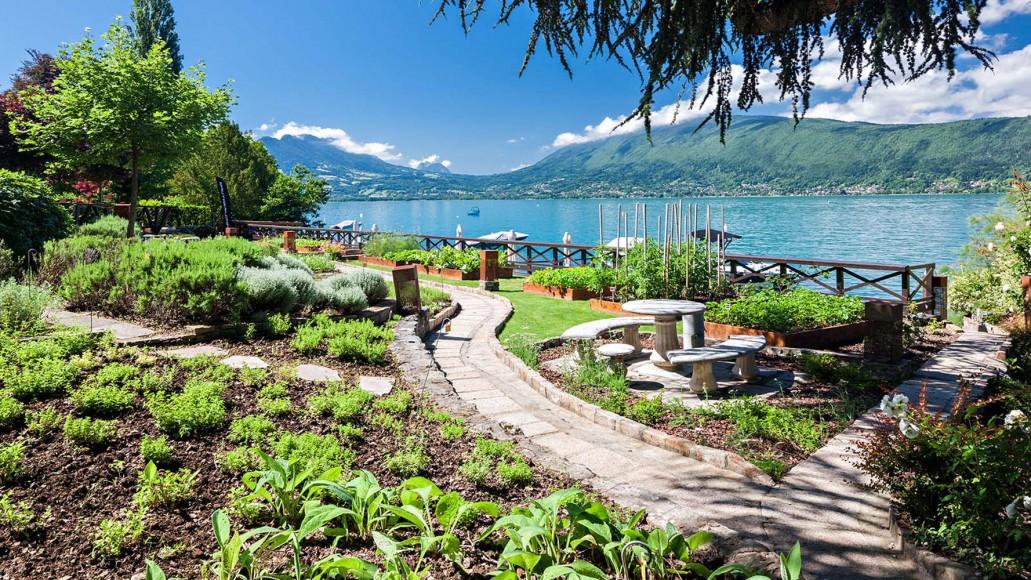 Le Lac d'Annecy depuis la Maison Bleue à Veyrier du Lac