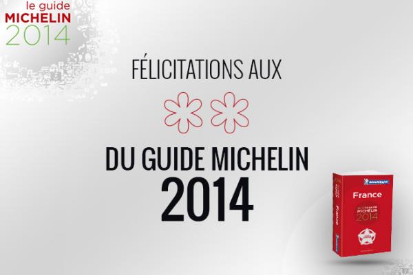 Découvrez les établissements 2 étoiles Michelin 2014
