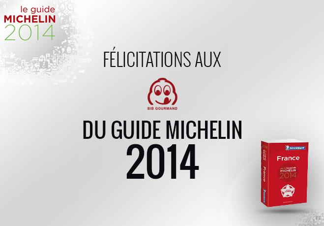 Découvrez les établissements Bib Michelin Michelin 2014