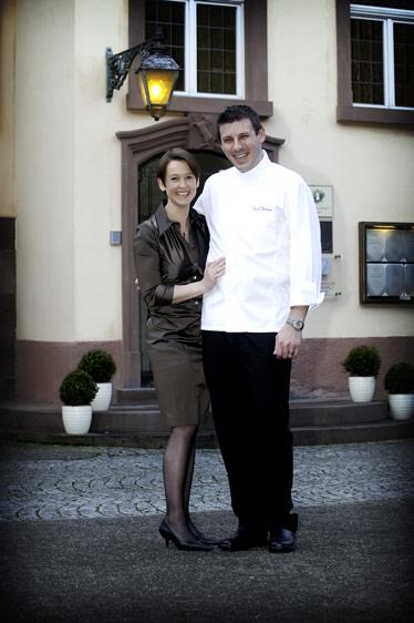 Carole et Pascal Bastian à l'Auberge du Cheval Blanc