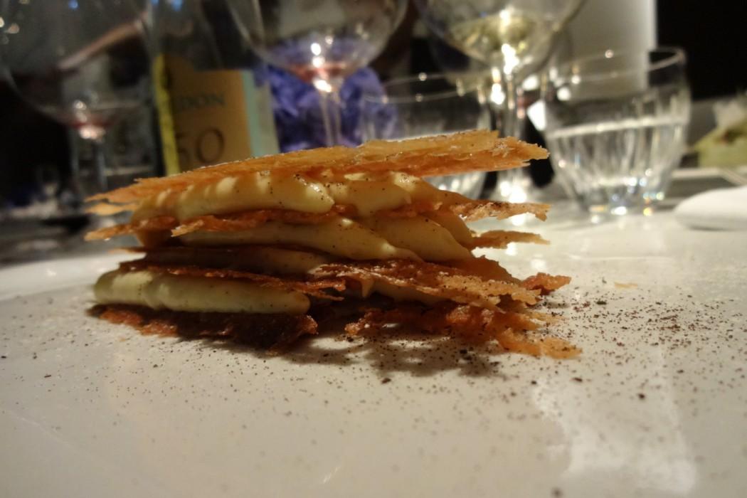 VANILLE en « cinq feuilles » / Crème onctueuse - Restaurant La Scène - Stéphanie Le Quellec