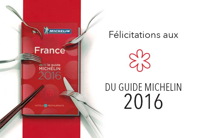 Guide Michelin 2016 1 étoile