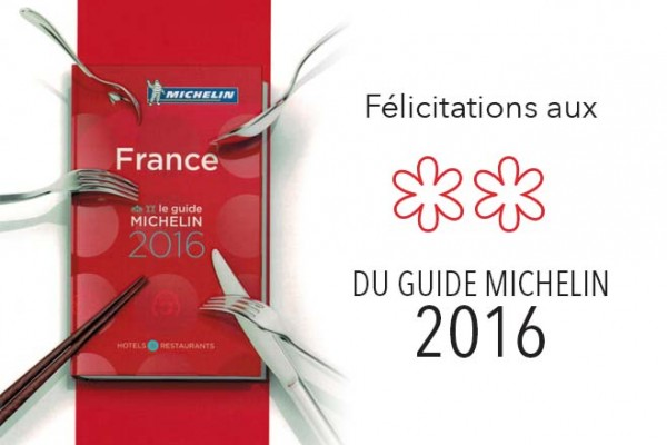 Guide Michelin 2016 2étoile